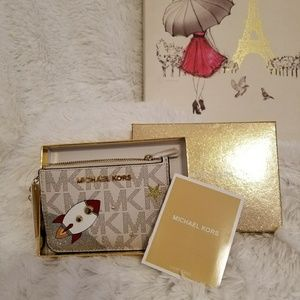 MK Illustrations Small Card Holder Coin Pouch
